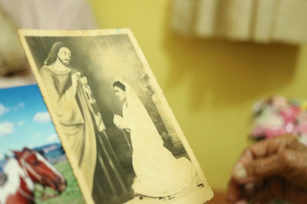 O retrato da afilhada em um casamento.(Foto: Kimberly Teodoro)