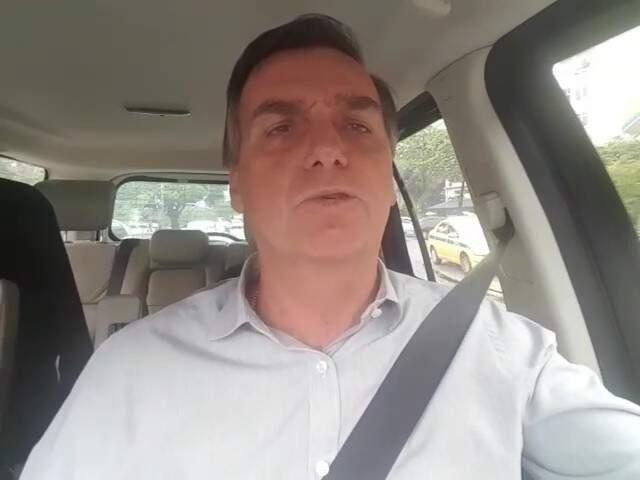 Deputado federal Jair Bolsonaro em vídeo (Foto: Reprodução)