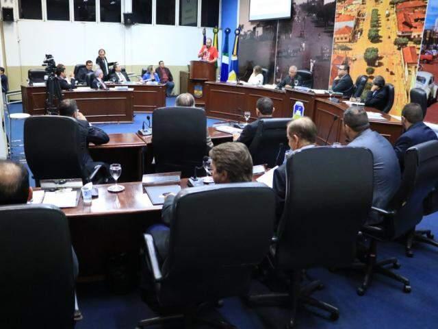 Vereadores durante sessão desta semana; depoimentos de testemunhas continuaram hoje (Foto: Thiago Morais/Divulgação)
