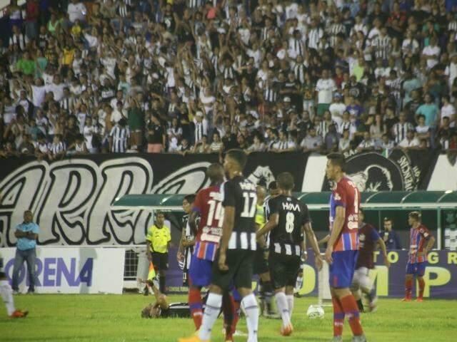 Jogo de estreia do Operário no Morenão teve público pagante de 3.197 torcedores (Foto: Marcos Ermínio)