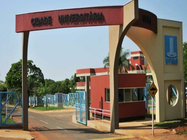 Entrada da UFMS em Campo Grande (Divulgação/UFMS)