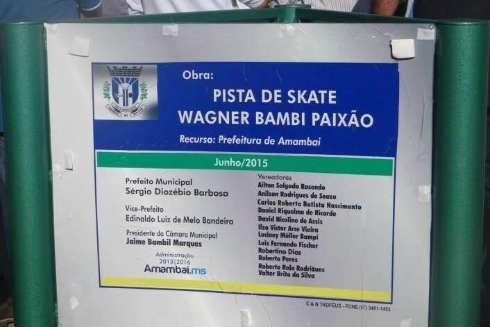 """Placa com o nome """"errado"""" foi parar nas redes sociais após polêmica (Foto: Divulgação)"""