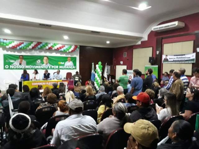 Convenção do PV confirmou aliança com Rede e PC do B e candidatura de Bluma. (Foto: Eliene Smith/Divulgação)