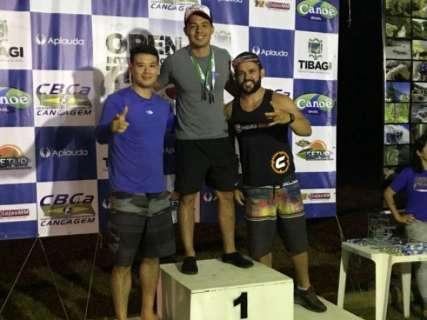 Atletas de MS lideram pódio da 1 ª etapa do brasileiro de canoagem descida 2018