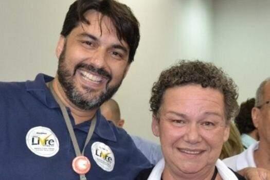 A nova reitora da UFGD, Liana Calarge, com seu vice, Marcio Eduardo de Barros (Foto: Divulgação)