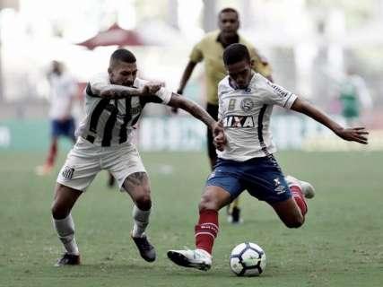Rodada terá cinco jogos neste sábado, começando por Santos e Bahia