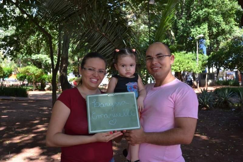 Neusa e Renato realizaram um sonho com o nascimento de Larissa (Foto: Naiane Mesquita)