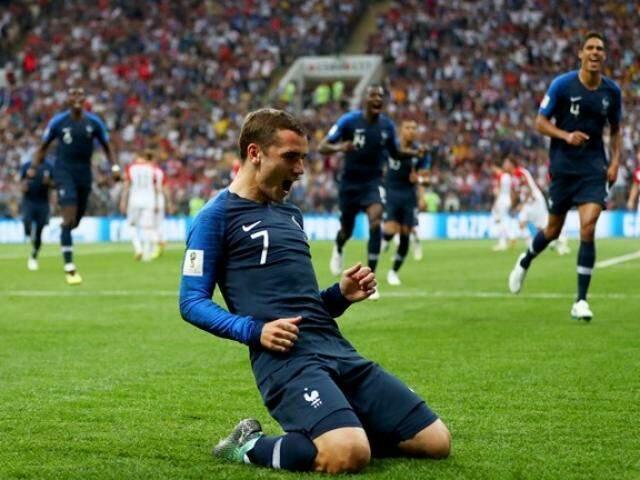 Griezmann comemora primeiro gol da França na decisão (Foto: Fifa/Divulgação)