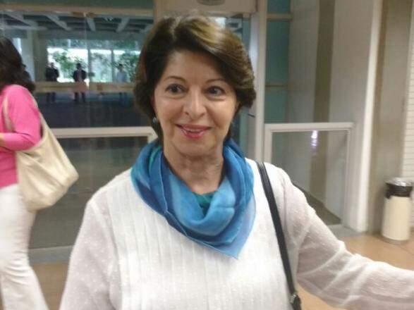 Marisa Serrano na Assembleia Legislativa, nesta terça-feira, dia 17. (Foto: Leonardo Rocha).