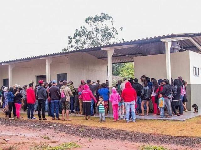 Escola Municipal na Comunidade Indígena Yvikatu Remanso inaugurada em julho. O certame oferece diversas vagas para professores (Foto: Prefeitura de Japorã)