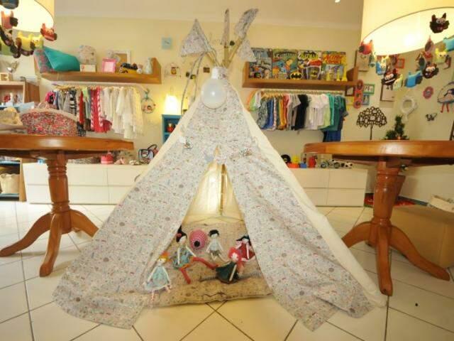 Cabana de algodão cru custa R$ 479,90. (Foto: Alcides Neto)