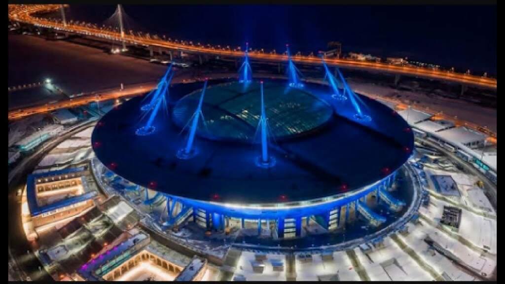 A Arena Zenit, em São Petersburgo, vai receber Brasil e Costa Rica no dia 22 de junho (Foto: Divulgação)