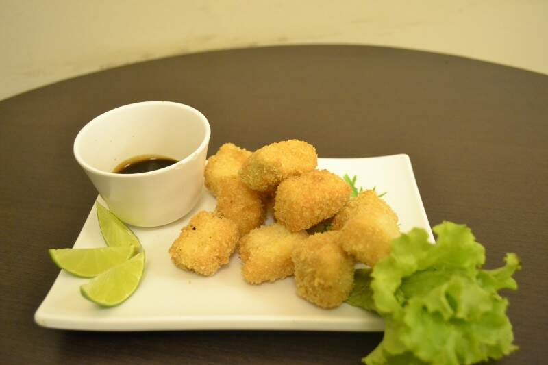 O Nugget de Salmão é outra opção de peixe do festival de bares. (Foto: Nicholas Vasconcelos)