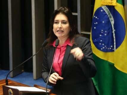 Simone Tebet é contra investigação de Flávio Bolsonaro no Senado