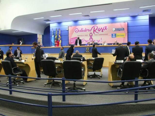 Sessão na Câmara Municipal de Campo Grande.(Foto: Marcos Ermínio/Arquivo).