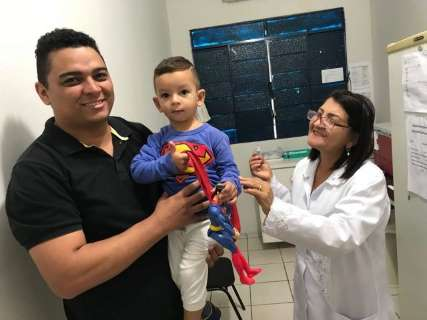 Cinco dias após campanha, município atinge meta de vacinação contra sarampo