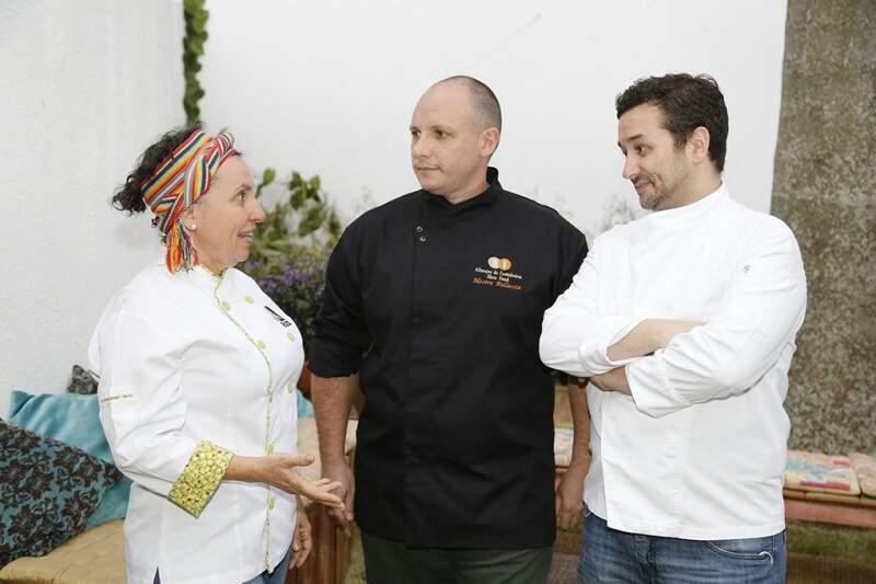 Dedê Cesco, Stefano e André planejam novos jantares sensoriais