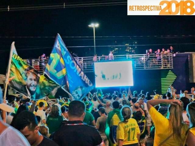 Eleitores de Bolsonaro na Avenida Afonso Pena, em 28 de outubro de 2018, após o resultado das eleições. (Foto: Henrique Kawaminami/Arquivo).