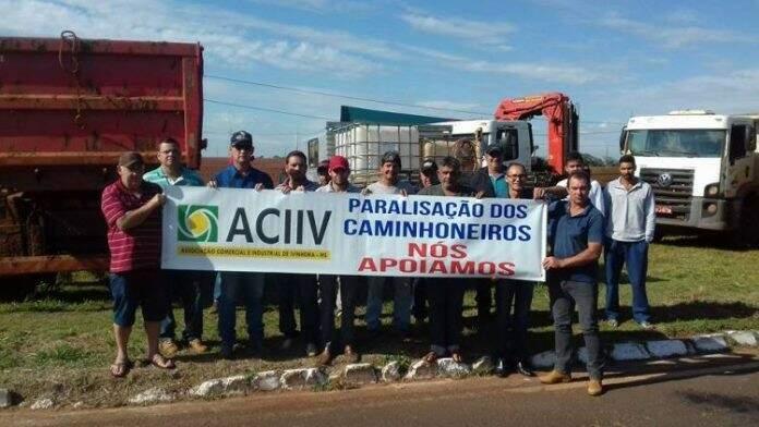 Associação Comercial e Industrial de Ivinhema decidiu apoiar a greve (Divulgação/Fátima News)