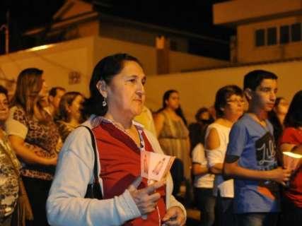 Procissão de Nossa Senhora de Fátima reúne 3 mil fiéis na Capital