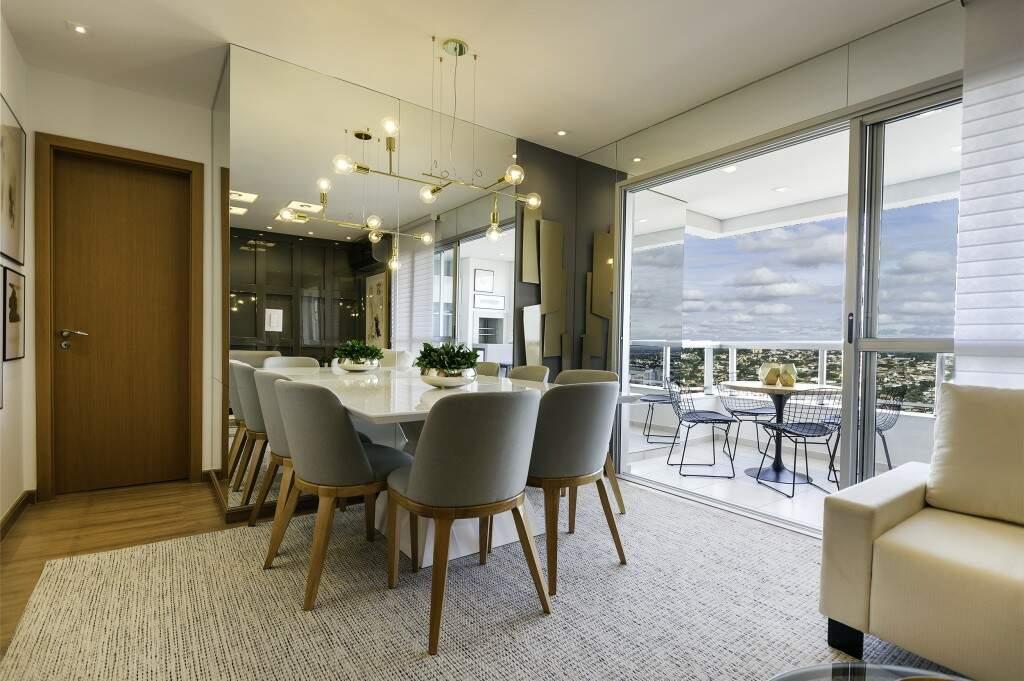 Sala do apartamento decorado - Foto Divulgação