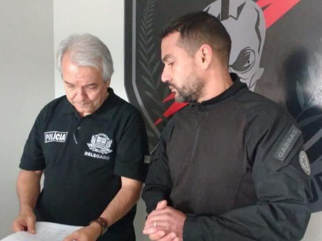 Delegados Celso e Fábio Peró falam sobre a operação no Garras (Foto: Geisy Garnes)