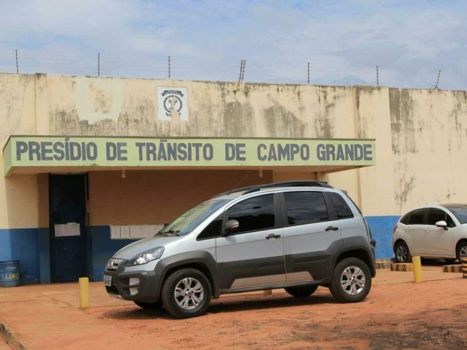 Presídio de Trânsito de Campo Grande, uma das unidades no Complexo Penal que recebe presos provisórios (Foto: Marina Pacheco)