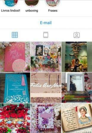 Instagram é feito com fotos produzidas das obras (Foto: reprodução)