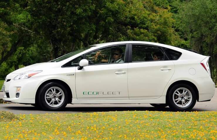 Híbrido Prius, da Toyota, está acessível ao público na Expogrande. (Foto: Uol)
