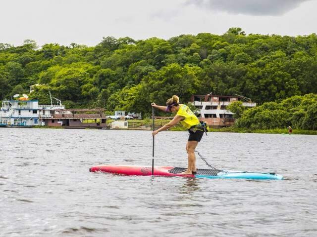 Stand up paddle é uma das modalidades em disputa dos jogos (Foto: Divulgação)