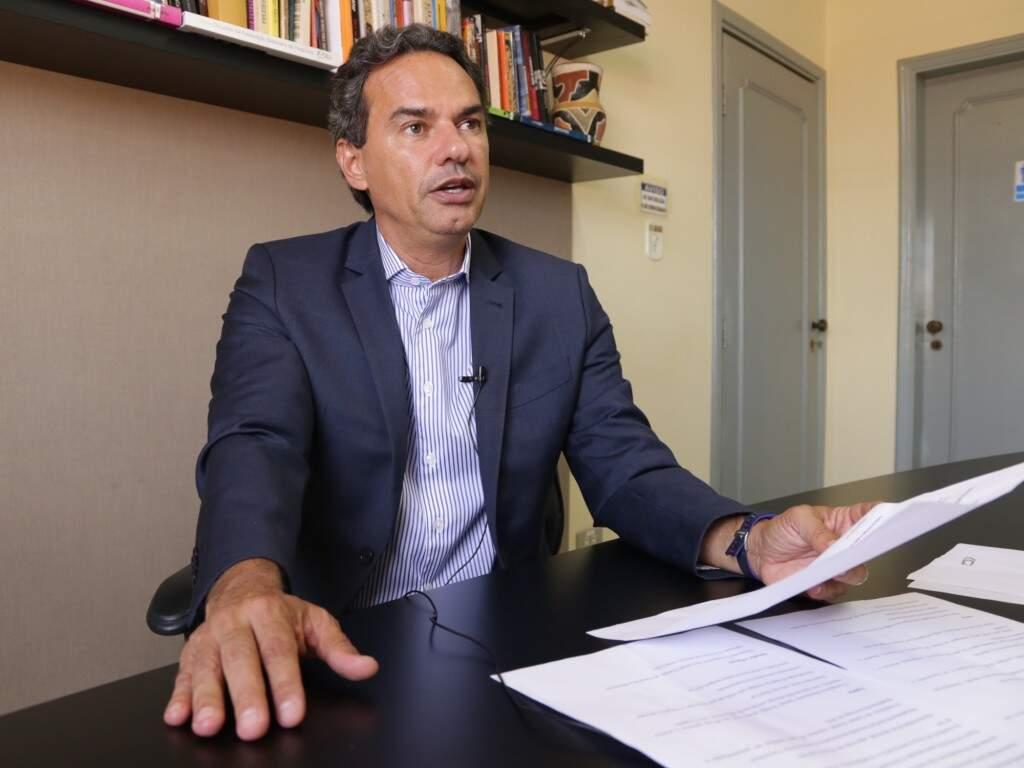 O prefeito de Campo Grande, Marquinhos Trad. (Foto: Kisie Ainoá)