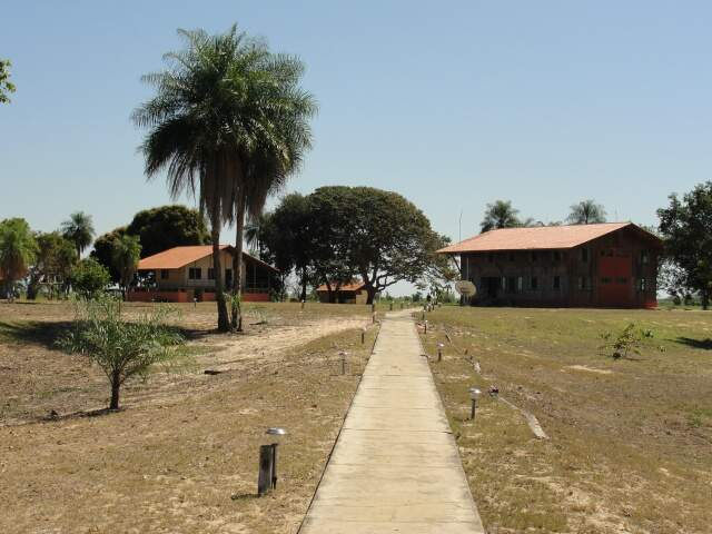 Estrutura da administração do Parque Nacional do Pantanal, que em breve vai ganhar acréscimos para receber a Copa do Mundo. (Foto: Paula Maciulevicius)