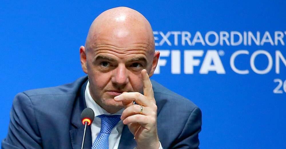 O presidente da Fifa, o italiano Gianni Infantino, disse que está ansioso para ver a bola rolar na Copa do Mundo da Rússia (Foto: Fifa/Divulgação)