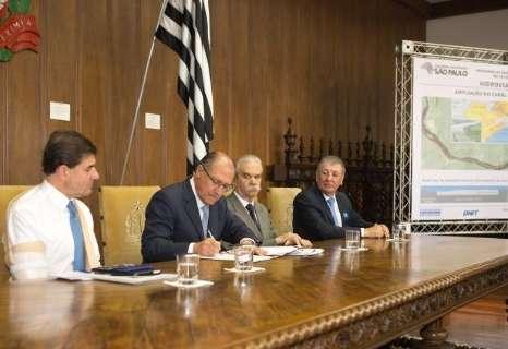 Alckmin autoriza obra que irá beneficiar transporte pela hidrovia em MS
