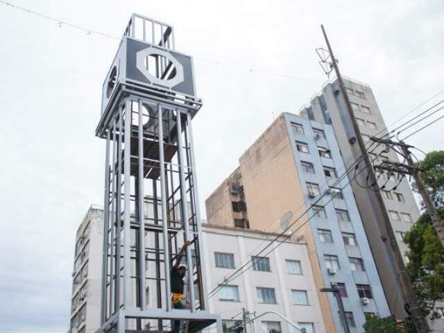 Monumento idealizado como tributo ganhará relógio. (Foto: Diogo Gonçalves/PMCG)
