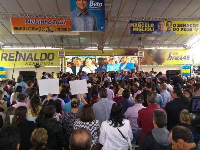 Palanque de Reinaldo já tem vice, dois candidatos a senador indicados e lista de 14 partidos aliados. (Foto: Fernando Antunes)