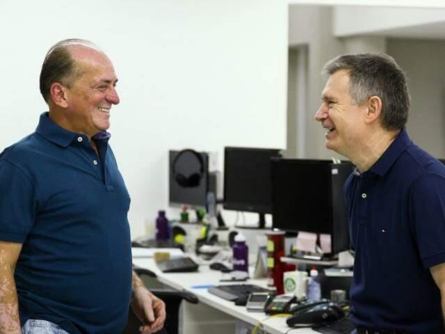 Diretores do Campo Grande News, Lucimar Couto e Miro Ceolim. (Foto: André Bittar)