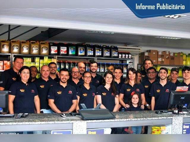 Equipe da Campolub, empresa com mais de 5 anos no mercado. (Foto Alcides Neto)