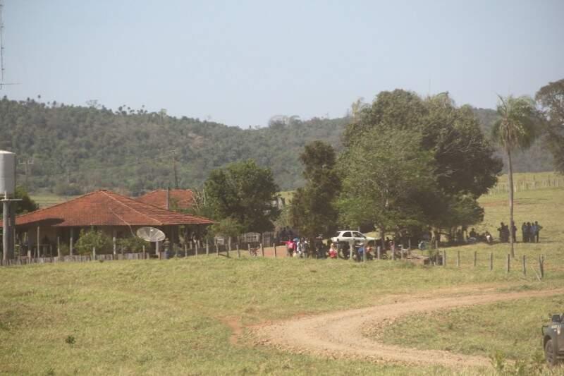 Sede da Fazenda Cedro, também ocupada pelos indígenas desde o dia 22 de agosto (Foto: Marcos Ermínio)