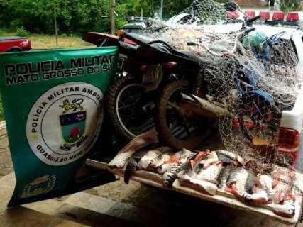 Durante Piracema, 56 pescadores foram pegos com 2 toneladas de pescado irregular