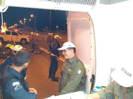 Blitze do Detran flagram 20 motoristas bêbados em avenidas movimentadas