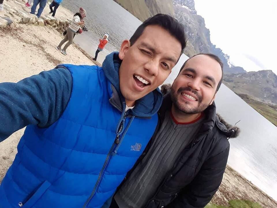 Alvaro e Leandro, que se conheceram no Peru. (foto: Acervo Pessoal)