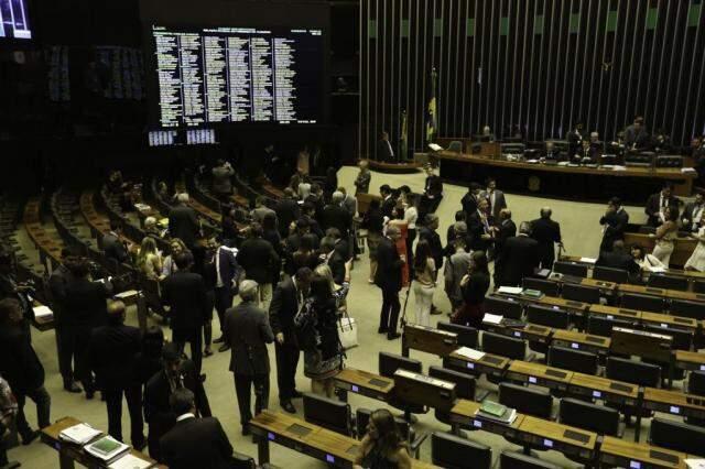 Plenário durante votação, nesta terça-feira. (Foto: Fabio Rodrigues Pozzebom/Agência Brasil/Agência Brasil)