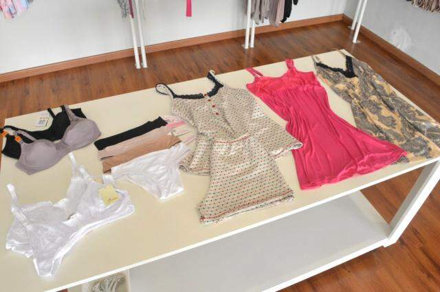 Linha especial para gestantes, tem lingeries para mulher usar durante a gestação e depois, para amamentar o bebê.