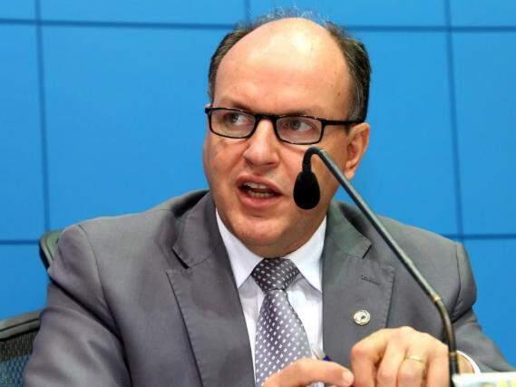 Presidente da Assembleia Legislativa de MS, deputado Junior Mochi, PMDB. (Foto: Vitor Chileno/ALMS).
