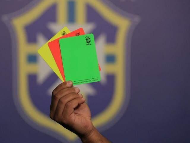 Cartão verde, que será mostrado para jogadores que tiverem atitudes de fair play (Foto: Lucas Figueiredo/CBF)