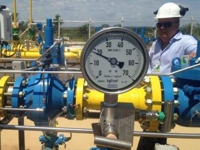 Centro de controle do Gasoduto Bolívia-Brasil; redução no bombeamento de gás tirou R$ 46 milhões do Estado. (Foto: Arquivo)