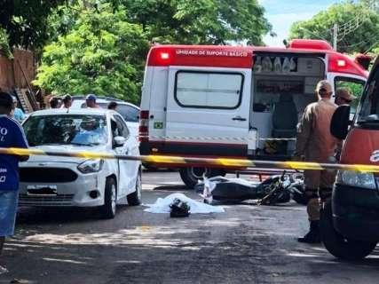 Motociclista morre ao atingir porta de carro no interior de MS