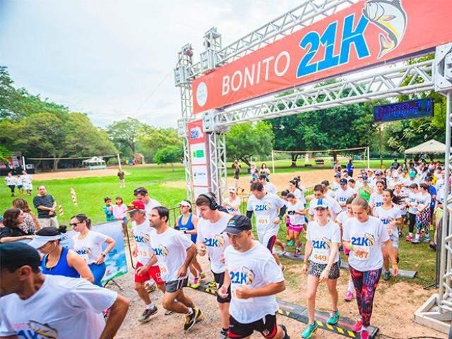Meia-maratona terá largada a partir das 17h30, em Bonito (Foto: Divulgação)