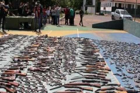 TJMS envia ao Exército mais de 1.800 armas para serem destruídas